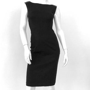 PRADA sheath dress w/ leather shoulders size XS